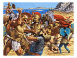 Battle of Marathon Giclee Print by Roger Payne