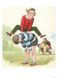 L For Leapfrog Giclee Print by Clive Uptton