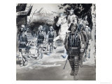 Asian Warriors Giclee Print by Barrie Linklater