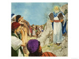 Moses in the Wilderness Giclee Print by Clive Uptton