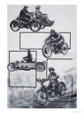 Motor Cyclists Giclee Print by Graham Coton