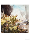 The Slaughter on the Somme Giclee Print by James Edwin Mcconnell
