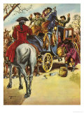 Dick Turpin, Rookwood Giclee Print by H. M. Brook