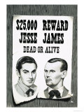 Wanted Poster For Jesse James Reproduction procédé giclée par John Keay