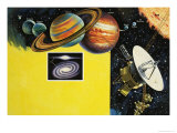 Space Probe Giclee Print by Clifford Meadway