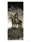 Mongolian Warrior Giclee Print by Ron Embleton