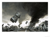 Tornado Which Hit St Cloud Giclee Print by Graham Coton