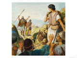 The Story of David Giclee Print by Clive Uptton