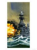 Warship Giclee Print by Wilf Hardy