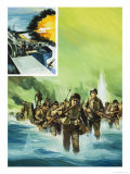 Allied Invasion of Italy Reproduction procédé giclée par Gerry Wood