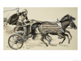 Charioteer Giclee Print by Clive Uptton