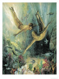 Coral Island Giclee Print by John Millar Watt