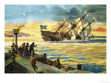 Sinking of the Vasa Giclee Print by Andrew Howat