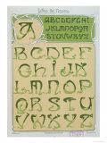 Art Nouveau Alphabet. 1903 Giclee Print by E. Mulier