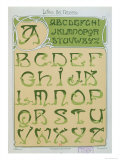 Art Nouveau Alphabet, 1903, Giclee Print