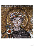 Emperor Justinian I and His Retinue of Officials, Soldiers and Clergy, c.547 Ad Giclee Print