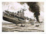 The Sinking of Hms Dasher Giclee Print by John S. Smith