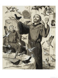 St Francis Giclee Print by Clive Uptton