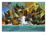 Unidentified Sea Battle Giclee Print by Severino Baraldi