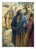 Christ with His Disciples Giclee Print by Henry Coller