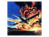 Flight Through an Inferno Giclee Print by Wilf Hardy