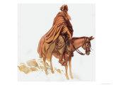 Bearded Man on Horse Giclee Print by Gerry Embleton