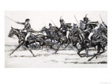 Cavalry Charge Giclee Print by John Millar Watt