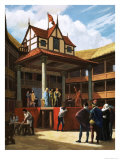 The Globe Theatre Giclee Print by Ralph Bruce