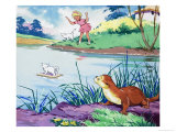 Fliptail the Otter Giclee Print by Bert Felstead