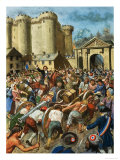 Assault on the Bastille Giclee Print by Clive Uptton