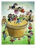 Dancing Fairies Making Wine Giclee Print by Jesus Blasco