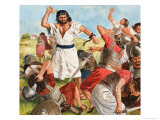 Samson's Great Fight Giclee Print by Clive Uptton