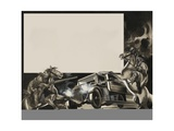 Horsemen and Truck Giclee Print by Ron Embleton