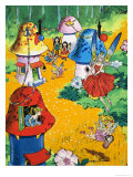 Fairies and Fairy Houses Giclee Print by Jesus Blasco