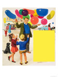 The Balloon Man Giclee Print by Clive Uptton