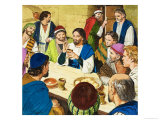 The Last Supper Giclee Print by Clive Uptton