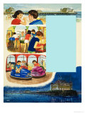 The Seaside Pier Giclee Print by Clive Uptton