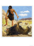 David, the Brave Shepherd Giclee Print by Clive Uptton