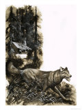 Running Wolf Giclee Print by Ron Embleton