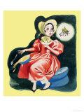Little Miss Muffet Giclee Print by Ron Embleton