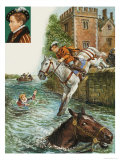 Edward VI Rescues Elizabeth I Giclee Print by Clive Uptton