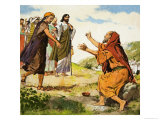The Blind Beggar Giclee Print by Clive Uptton