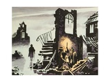 Great Fire of London Giclee Print by Ron Embleton