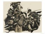 Battle Scene Giclee Print by Ron Embleton