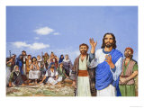 Christ Preaching Giclee Print by Clive Uptton