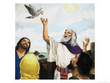 Noah and the Dove Giclee Print by Clive Uptton