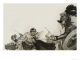 Gladiator Fights Giclee Print by Angus Mcbride