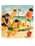 Castles in the Sand Giclee Print by Clive Uptton