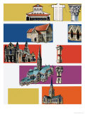 Cathedrals Giclee Print by Dan Escott