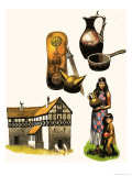 Roman Artefacts Giclee Print by Ron Embleton